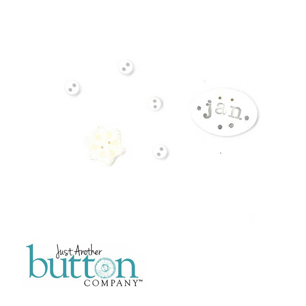 Chalk Squared January Button Embellishment Pack