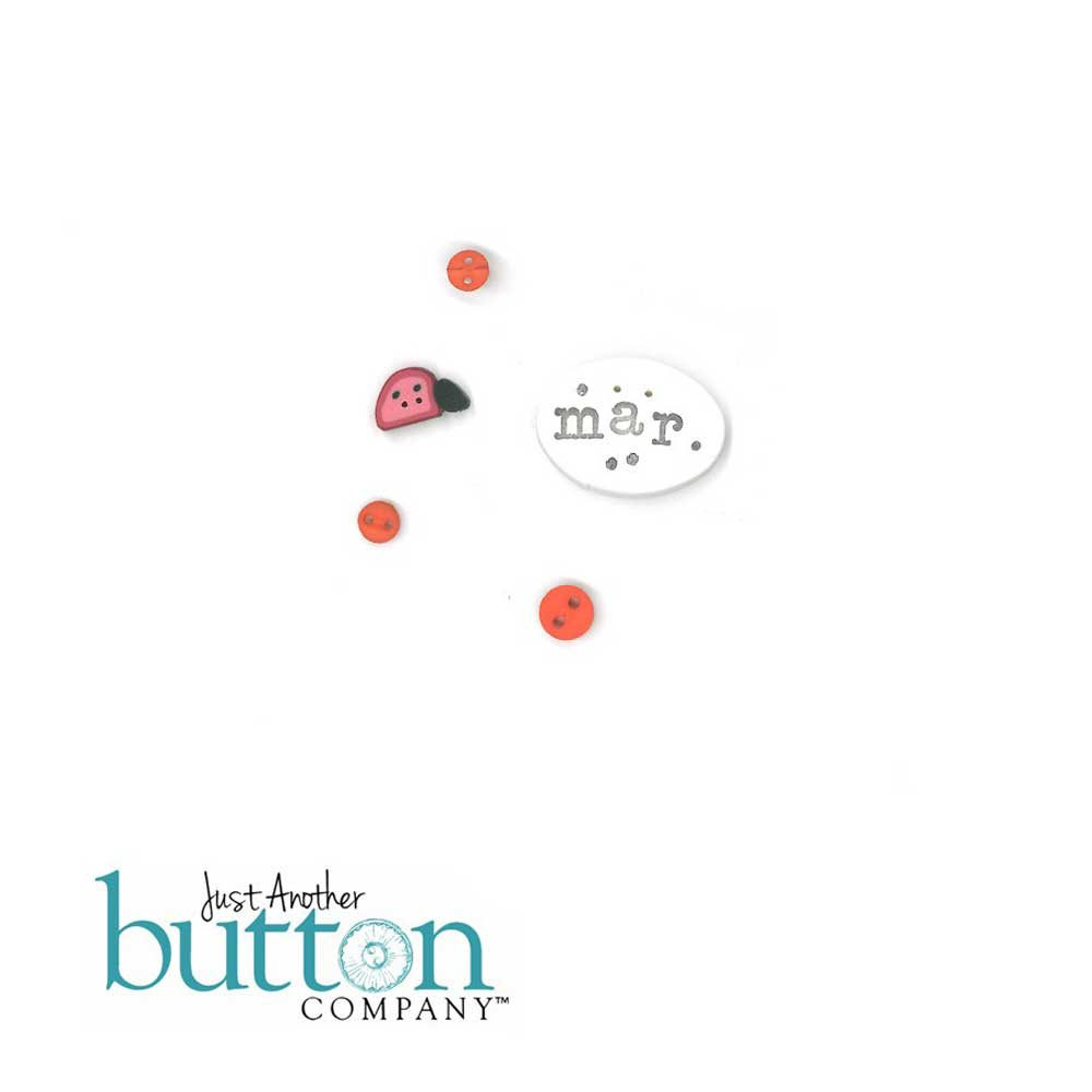 Chalk Squared March Button Embellishment Pack