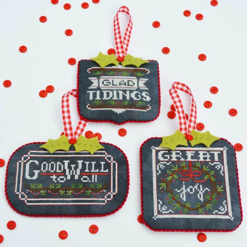 Chalkboard ornaments pt hands on design