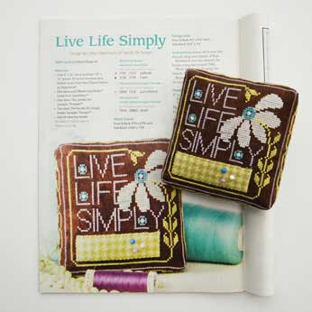 Just Cross Stitch Magazine: April 2015 Issue – Live Life Simply Pincushion