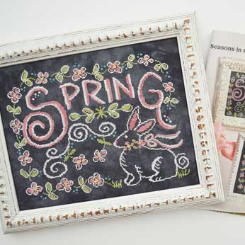 Just Cross Stitch Magazine: April 2016 Issue – Seasons in Chalk 'Spring'