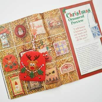 Just Cross Stitch Magazine: August 2013 Issue – Roly Poly Rudolph