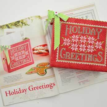 Just Cross Stitch Magazine: December 2014 Issue – Holiday Greetings