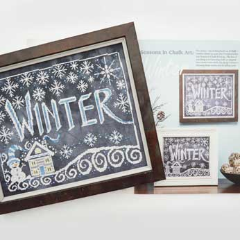 Just Cross Stitch Magazine: February 2016 Issue – Seasons in Chalk 'Winter'
