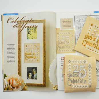 Just Cross Stitch Magazine: June 2015 Issue – Celebrate the Years