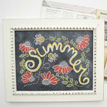 Just Cross Stitch Magazine: June 2016 Issue – Seasons in Chalk Art 'Summer'