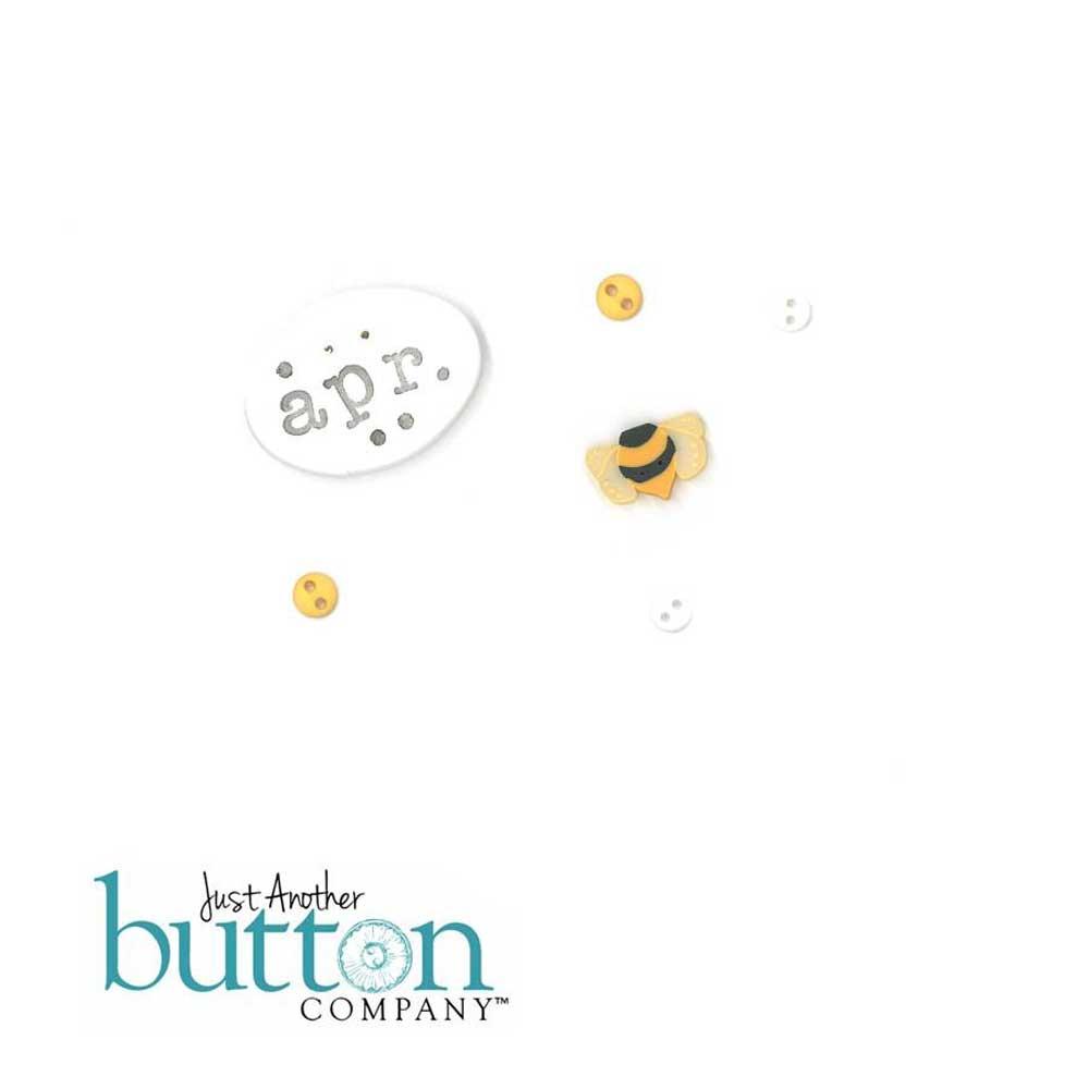 Chalk Squared April Button Embellishment Pack - Hands On Design